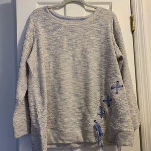 NWT! dressbarn sweater with stitching detail